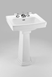 Toto LPT532.8N Pedestal Lavatory Sink from the Promenade Collection