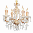 Crystorama 4504-CM-CLEAR - paris flea mini chandelier adorned with clear murano crystal