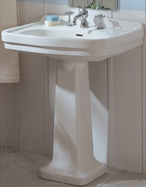 High Quality China Series Large Rectangular Pedestal LO924 LO905 WH From Whitehaus