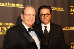 Dr. Ted Baehr, Founder of the MOVIEGUIDE® Awards and Andy Garcia, winner of the Grace Award