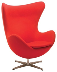 Superieur Nuevo Living HGEM232 Bolero Lounge Chair   Red