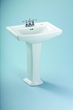 Toto LPT780.8 Widespread Vitreous China Lavatory Sink from the Clayton Collection
