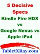 "Amazon Kindle Fire HDX 7"" vs Google Nexus 7 vs Apple iPad Mini..."
