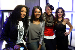 Tami Roman with Black Hollywood Live Hosts Diona Vaughan, Courtney Stewart and Erika Garcia Rojas