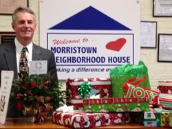 Andy O'Connor, President of A.J. O'Connor Associates Drops Off SHRAB Member Holiday Gifts
