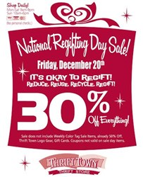 Regifting Day Sale at Thrift Town