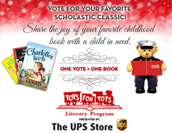 The UPS Store uses CafeGive Social App for holiday book-raising campaign for Marine Toys For Tots Literacy Program