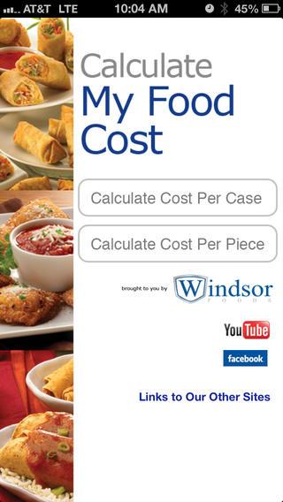 windsor foods cost calculator smartphone app hits 40 000