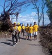 A team of Scientology Volunteer Ministers in Tacloban in the Philippines, one of the areas hardest hit by Super Typhoon Haiyan