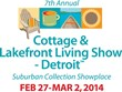 Relief from the Weather at Cottage & Lakefront Living Show Opening...