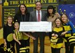 WEF Spelling Bee 2013 is a major fundraiser; (left to right) Annie Cohen (WEF co-president), Tom Fontaine (President of Wellesley Bank), Michelle Arbeely (WEF co-president) and WEF's little bees. Well