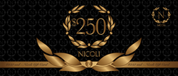 NICOLI Gift Cards - The luxury crystal embellished shoe and handbag brand - shop online at www.nicolishoes.com