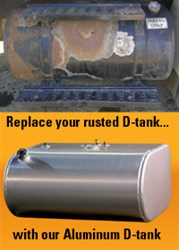 Replace Rusted Diesel Tanks with Cleveland Tank's Aluminum D-Tanks - photo