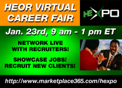 Register to attend the HEOR Virtual Career Fair, Jan. 23 from 9 am to 1 pm ET in HE-Xpo