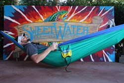 The SweetWater ENO DoubleNest Hammock, courtesy of SweetWater Brewing
