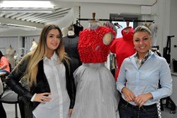 Havering College HND Fashion student Jessica Gilder and Havering College International & European Operations Manager Nadia Bonnichi celebrate the new Erasmus charter