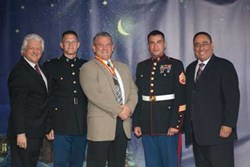 Dr. Lembo with Marines