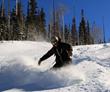 Amazing spring skiing conditions in Telluride, Colorado