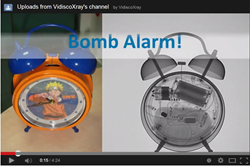 Bomb Alarm Clock revealed with Portable Digital X-ray
