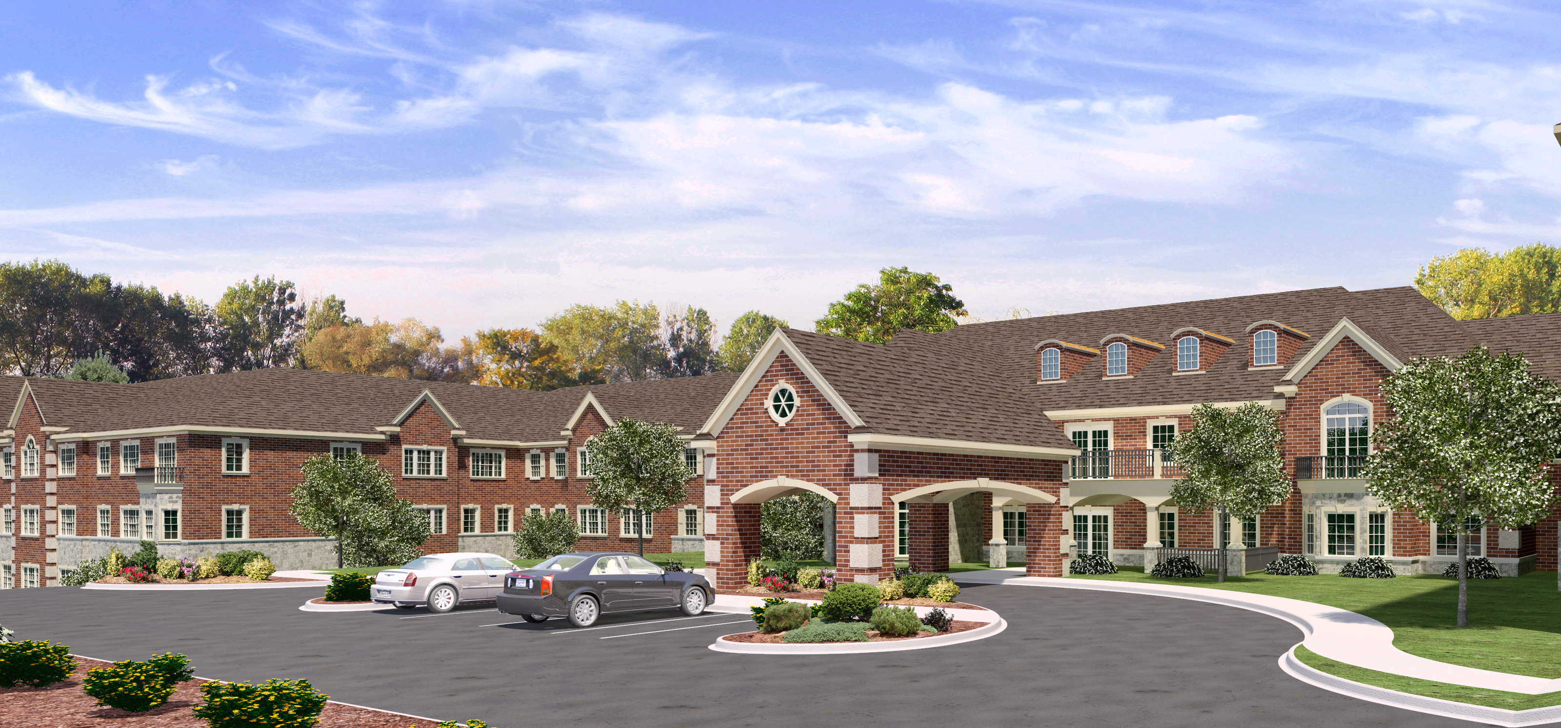 I Home Front Elevation : Cedarbrook senior living comes to bloomfield hills brings