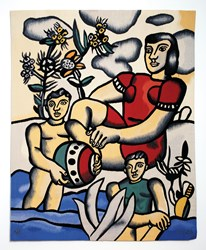 "Fernand Leger, ""Le Bonheur"" Aususson Tapestry 61x50in 1962c edition of 6 Photo Courtesy Jane Kahan Gallery New York,NY"