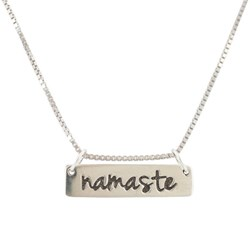 Sterling Silver Namaste Word Necklace by Zoe + Piper