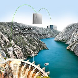 IWF 5320P - IP68 Outdoor Point-to-Point 5GHz, Dual RF, 200Mbps at 5KM Distance