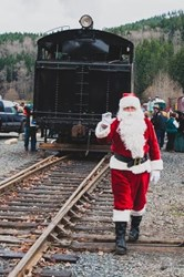 Santa at the Mt. Rainier Scenic Railroad