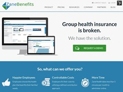Zane Benefits Announces New Healthcare Website for Small Businesses
