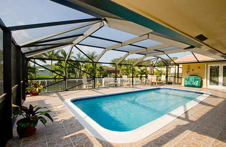 Screened Swimming Pool Enclosures Lead All Products In Weston For Venetian Builders Inc In