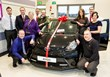 Macrae & Dick Toyota team with Mr and Mrs Campbell and their new Toyota AYGO