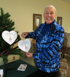 Resident Ginger Cranford at Gifts from the Heart