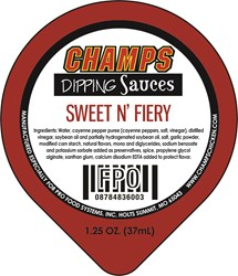 New Sweet N' Fiery label