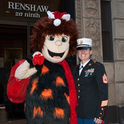 InventHelp's Cavey with US Marines Toys for Tots