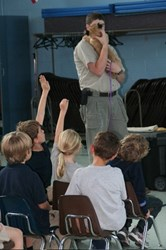 Wildlife educator talks to kids