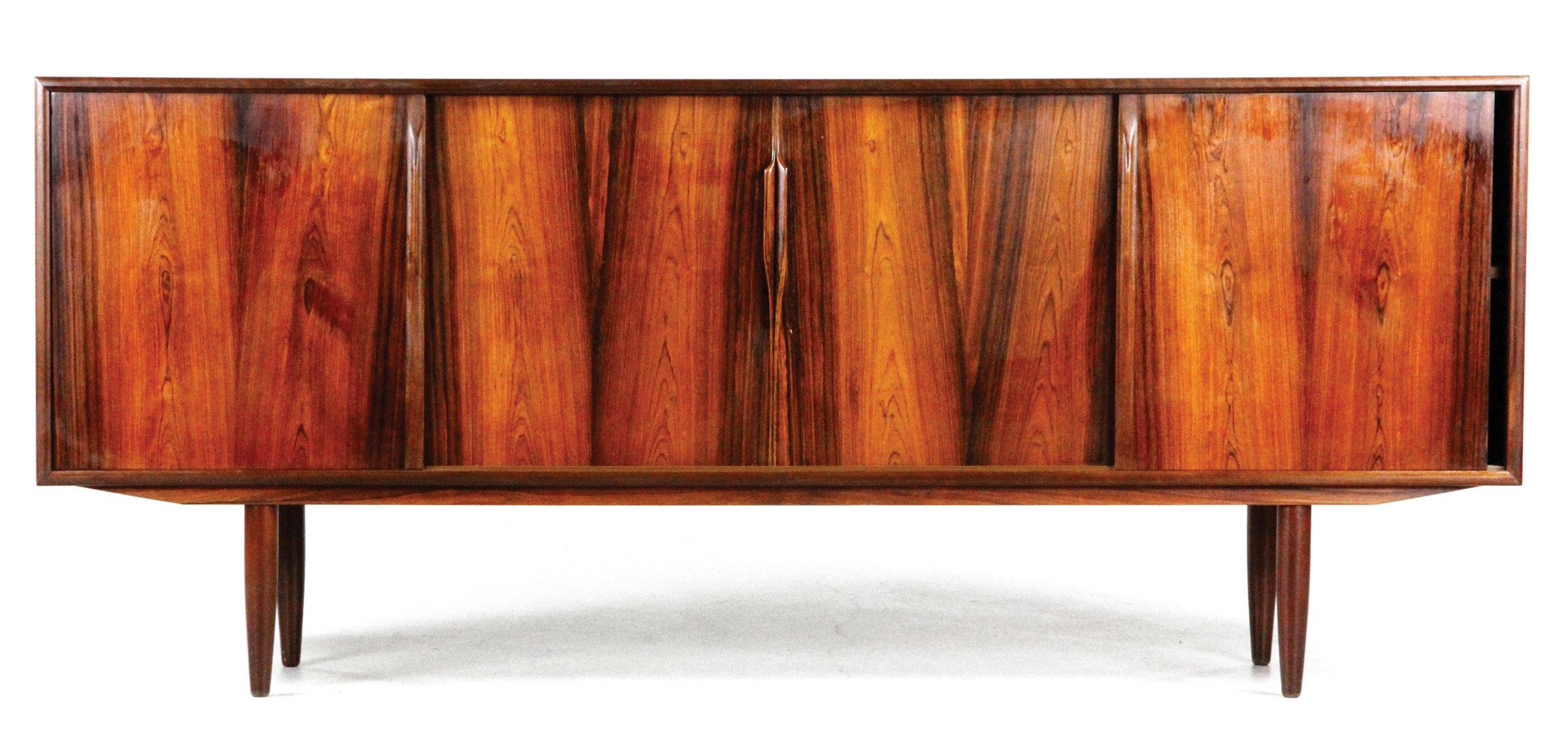 Axel Christiansen Danish Modern Credenza, Rosewood, Design Attributed To  Gunni Omann ...
