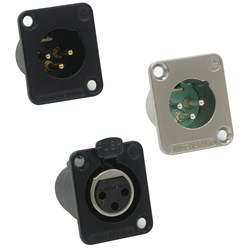 XLR  panel connectors by Switchcraft