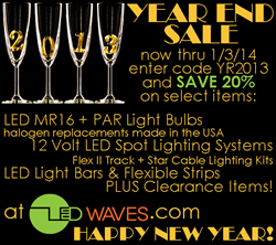 20% off select LED lights with coupon code YR2013