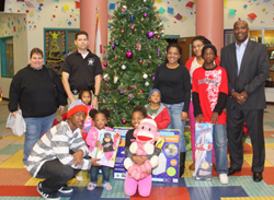 Families receive early Christmas gifts from the University Area CDC