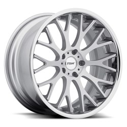 TSW Alloy Wheels - the Amaroo in silver with brushed face and chrome stainless lip