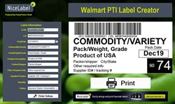 Free Produce Traceability Case Labeling from the Cloud