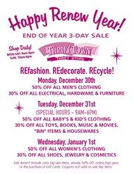 Thrift Town's Renew Year Sale