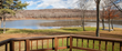 The view of the ten-acre lake from this four-bedroom, three-bath, home on 141 acres. Available for $1.1M through Coldwell Banker Timberland Properties. Call Jeffrey Ashton at 607-746-7400