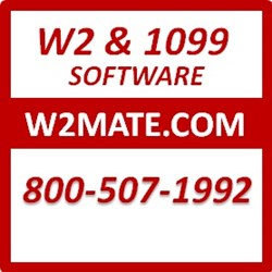 W2 Mate software can print and electronically file unlimited W-2s and 1099s.
