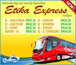 Etika Express offer bus from KL to Kuala Perlis