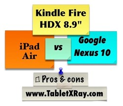 "iPad Air vs Kindle Fire HDX 8.9"" vs Google Nexus 10"