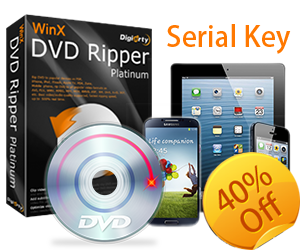 Digiarty Releases Serial Key of WinX DVD Ripper Platinum