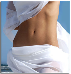 photo of woman after non-invasive fat reduction technology