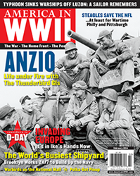 The star logo marks the first of three articles about D-Day, on the February 2014 cover of AMERICA IN WWII magazine.