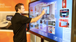 "The 80"" inTouch Interactive Wall - designed for multiuser, multitouch use."